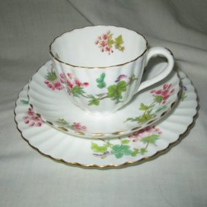 What a Beautiful Tea Cup Plate and low bowl matching set floral Stunning