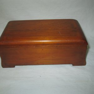 Wooden Home Made Mid Century Box Hand Made Nice shape separate Lid  Unhinged lid trinket jewelry box