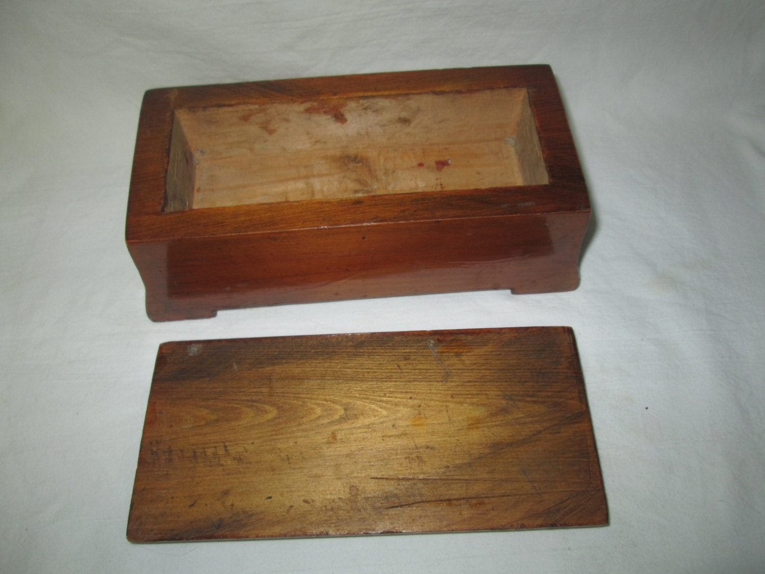 Wooden Home Made Mid Century Box Hand Made Nice Shape