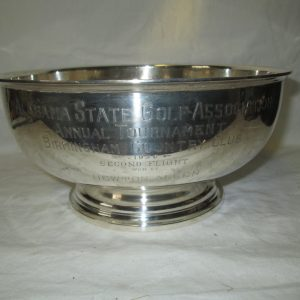 1936 Sterling .925 Fine 28oz. Engraved Alabama State Golf Association Annual Tournament Birmingham Country Club 2nd Flight Newton Allen Bowl