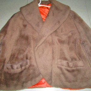 1950's Fantastic Women's short faux fur jacket with pockets large collar short jacket coat vintage womens coat jacket cover