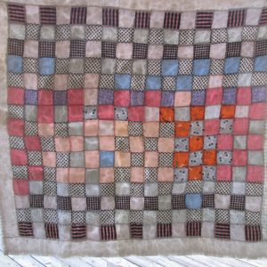 40x44 Hand Made Hand Stitched Baby Quilt Vintage