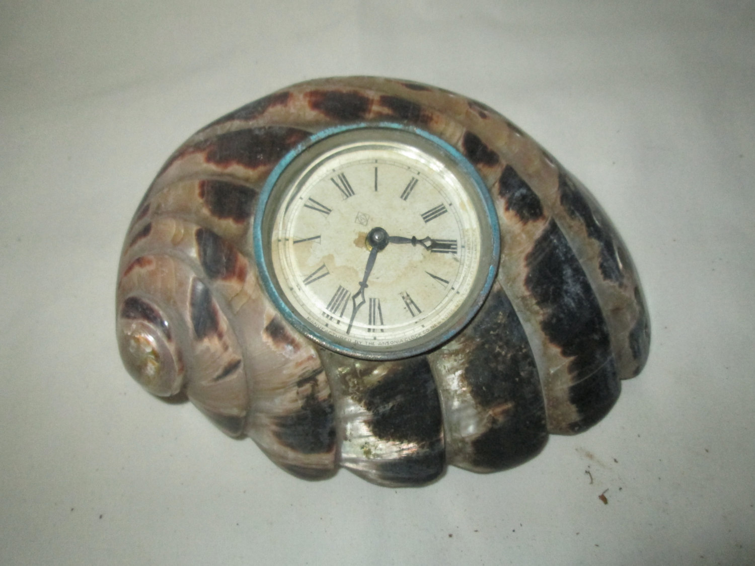 Ansonia Shell Clock 1920's Unituqe Home Decor Art Deco Style Beautiful shell