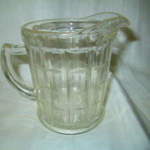 Antique Clear Glass Cream Milk Pitcher anchor hocking