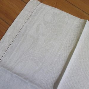 Antique Damask Bathroom 100% cotton towel summer collectible display turn of the century 19x34 #10 farmhouse cottage shabby chic Scrolls