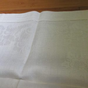 Antique Damask Bathroom 100% cotton towel  summer collectible display turn of the century 20x34 #8 farmhouse cottage shabby chic