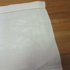 Antique Damask Bathroom 100% cotton towel summer collectible display turn of the century 23x37 #12 farmhouse cottage shabby chic Hand pulled