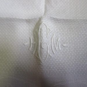 Antique Damask Bathroom All cotton towel summer collectible display turn of the century 18x28 #13 farmhouse cottage shabby chic HGM monogram