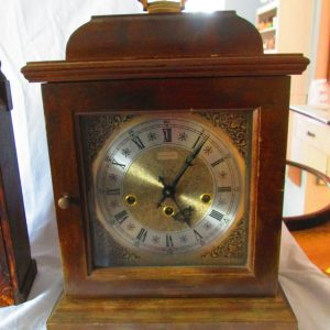 Antique Hamilton Empress Mantle Clock Gold Face Ornate 340-020 West Germany 2 Jewels Chimes