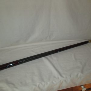 Antique hand made walking stick cane dark pool cue and cue ball solid wooden cane