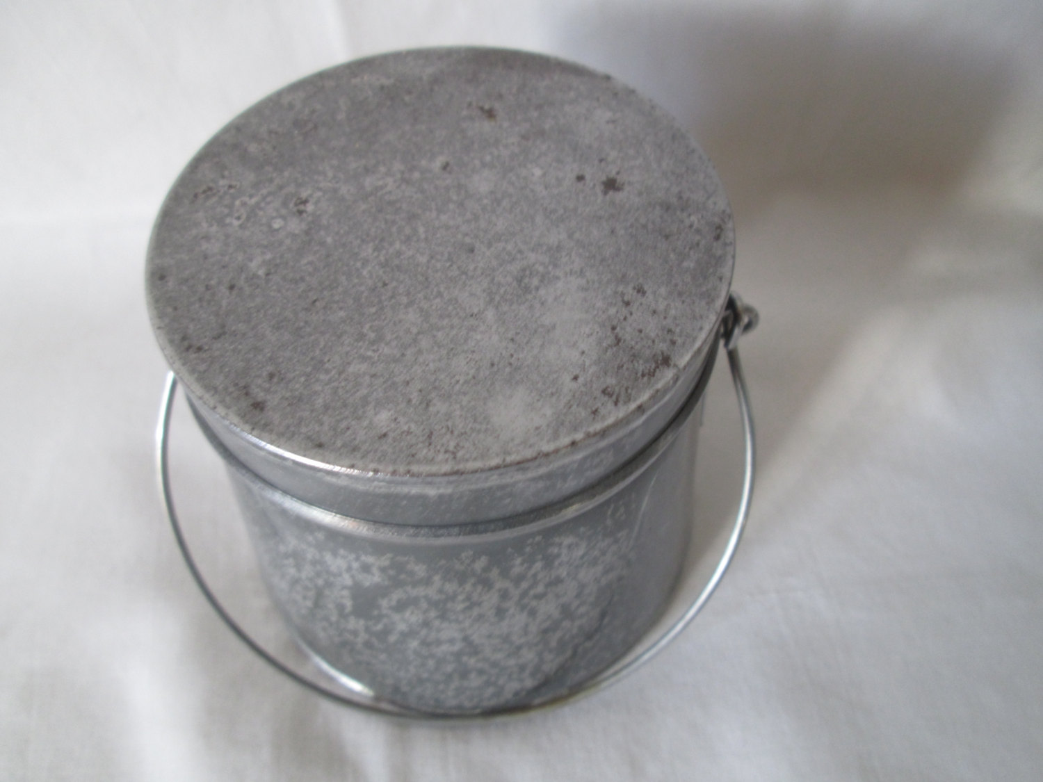 Antique Paint Brush Clean Pot Cleaning Supplies Holbein (German) Galvanized  Weighted bottom removable inside tray