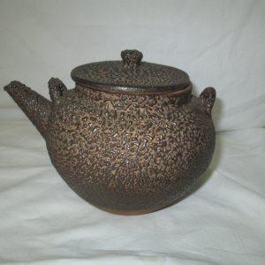 Antique Pottery Teapot Shigaraki pottery Dobin Japanese teapot nanbu