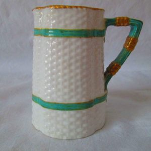 Antique turn of the Century English Cream Pitcher fine bone china trimmed in gold