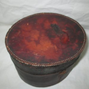 Antique Victorian Leather Men's Collar box 1800's