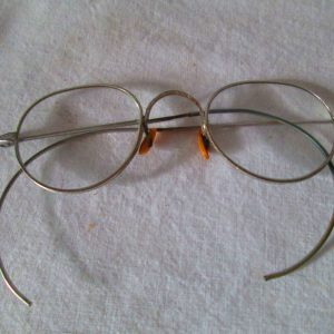 Antique Wire Rim Silver tone Ornate Pattern Rims Eye glasses Eyeglasses