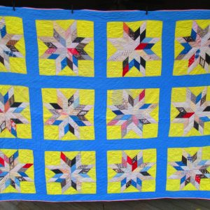 Beautiful Antique Quilt Star pattern Full Size 64x84 1940's