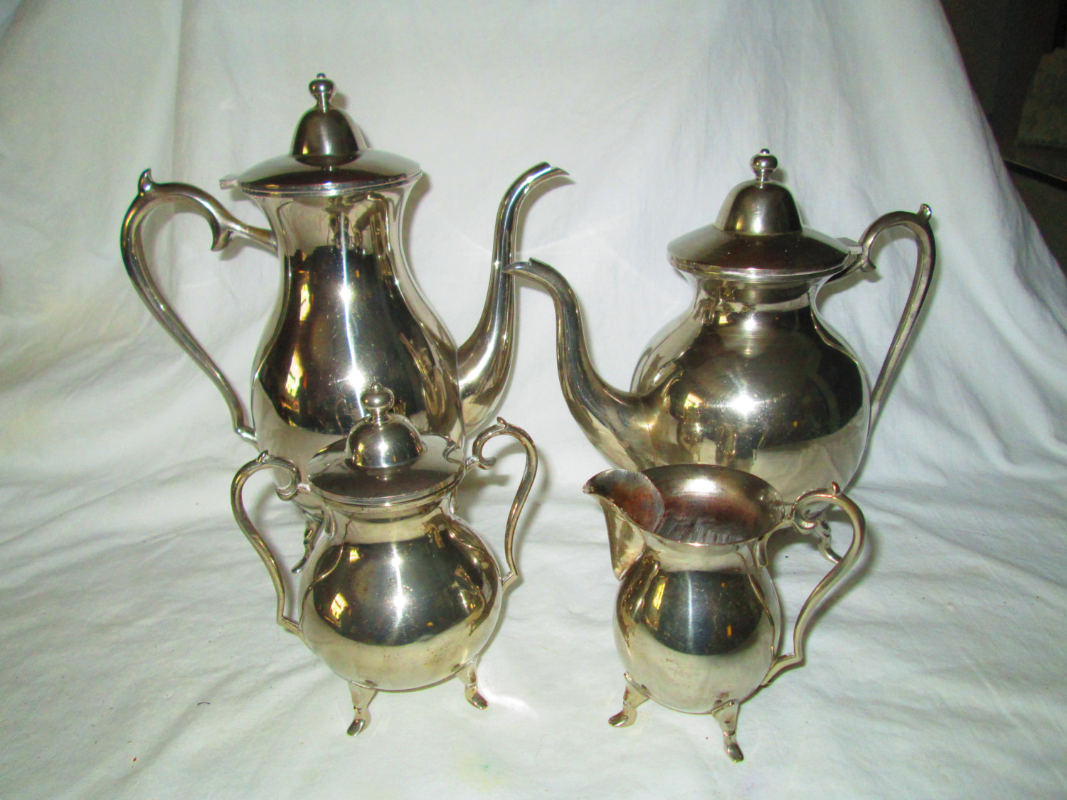Beautiful Antique Silverplate Silver plate Tea Coffee Creamer and Sugar Marked only LS on & Antique Silverplate Tea Set | Carolu0027s True Vintage and Antiques