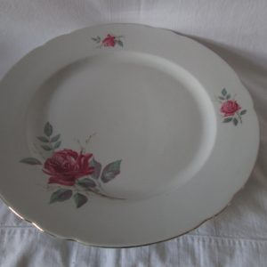 Beautiful Bareuther Waldsassen Bavaria Large serving Platter Rose Pattern 1940's Fine Bone China
