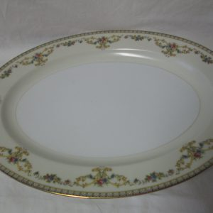 Beautiful Noritake Japan Mid Century Fine Bone China Floral Pattern Large Oval Platter
