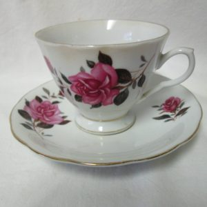 Beautiful Vintage Tea Cup and Saucer Fine Bone China Floral Rose Pattern