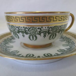 Beautiful Vintage Tea Cup and Saucer Fine Bone China Mid Century Limoges France Sold at Higgins & Sester New York