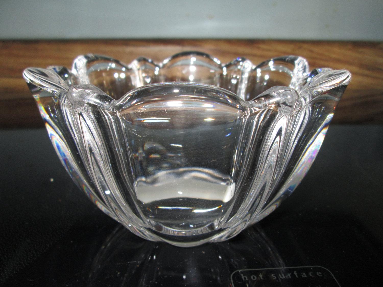 Beautiful Vintage Unused Mikasa Crystal Bowl Austria Cut With Original Label Austrian Center