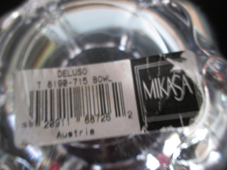 Mikasa Home Decor: Beautiful Vintage Unused Mikasa Crystal Bowl Austria