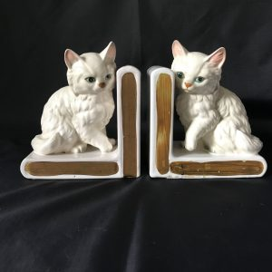 Darling Kitten Cat Bookends Lefton Japan Mid Century Japan