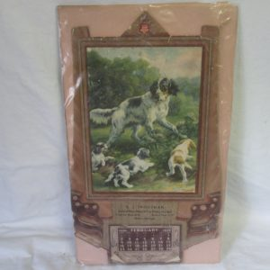 Dog Hunting calendar dog print calendar Spaniels E. J. Troutman General Store, Bring Us Your Poultry and Eggs
