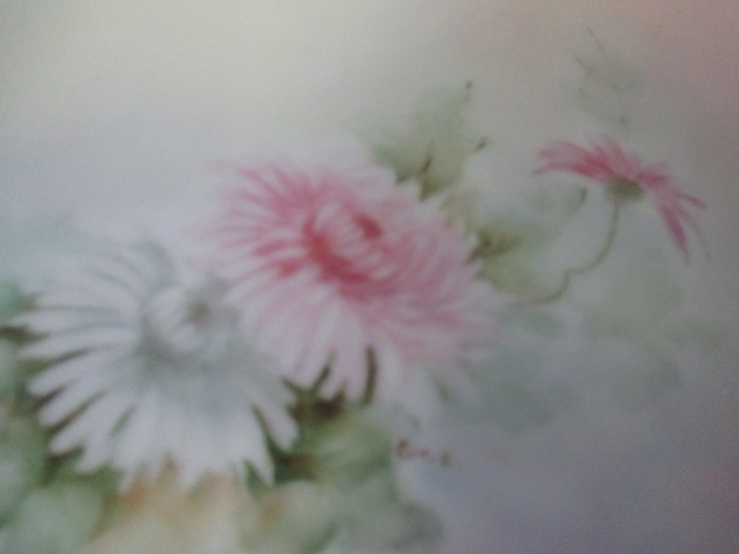 Fantastic Floral Hand Painted Dresser Vanity Tray Large And