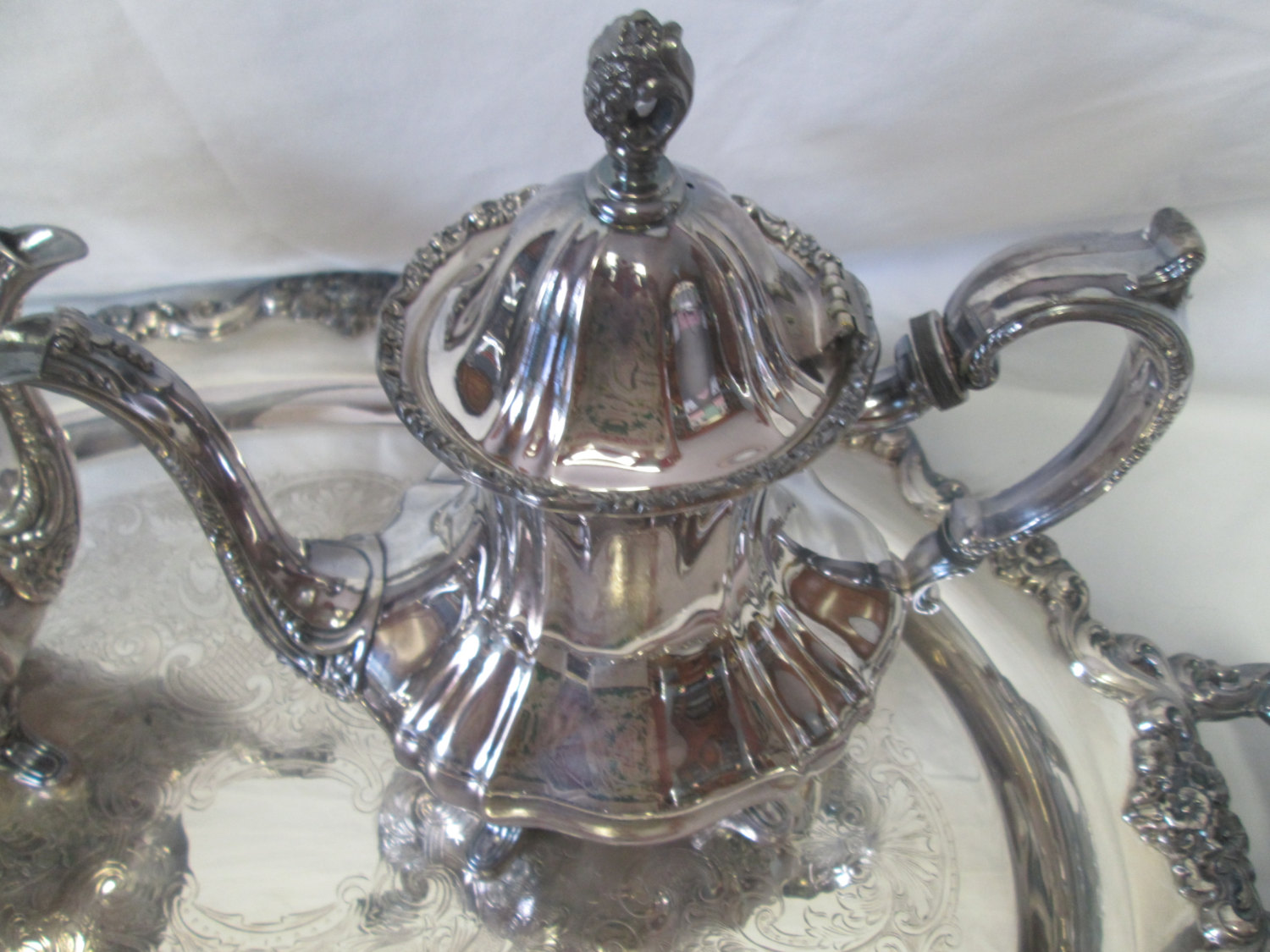 1febd7ba822a Vintage By Poole 400 Silver 1960 s Silverplate Silverplate E.P.C.A.  Lancaster Rose Five Pc Tea Coffee Service