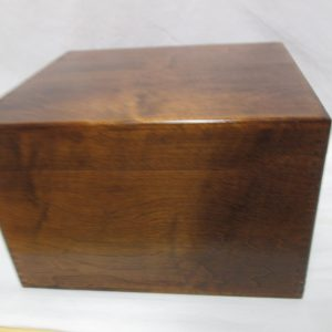 Vintage Dovetail Card Box Wooden Nice condition Brass hinges with Metal Adjuster bar inside Index Card Box Large
