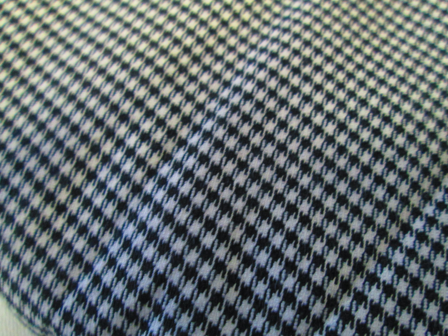 Vintage fabric checked hounds tooth black and white heavy for Vintage fabric