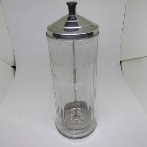 Vintage Hair Salon Barber shop Barbicide disinfectant fungicide & Virucide comb brush sterilizer jar vintage Salon Decor