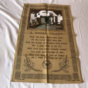 "Vintage Linen Kitchen Towel New Old Stock ""A Scpts Toast"" Innes & Cromb Design"