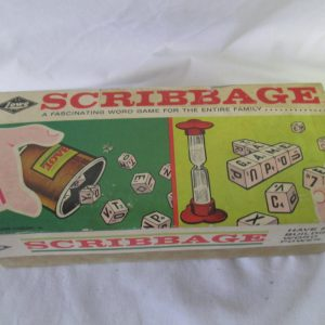 Vintage Lowe Scribbage Game No. 954 dated 1963 Dice Tile Game Family Barware Group dice game