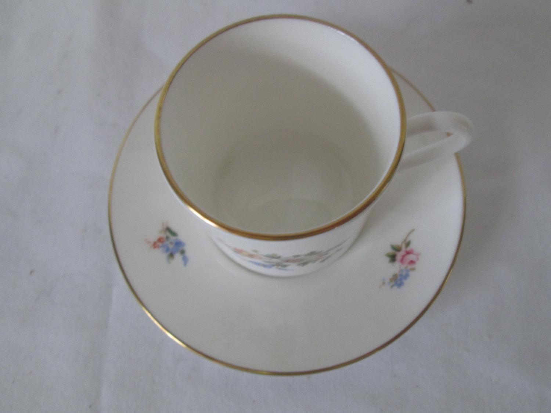 vintage royal worcester england fine bone china demitasse tea cup and saucer floral with gold. Black Bedroom Furniture Sets. Home Design Ideas