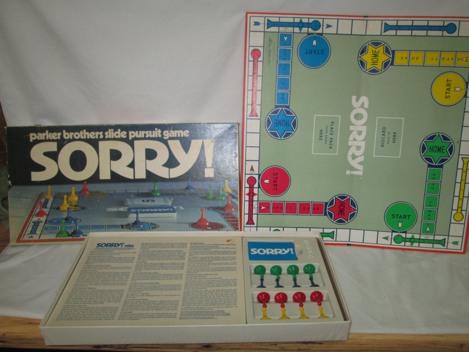 Vintage Sorry 1972 Board Game Parker Brothers 100 Complete Very