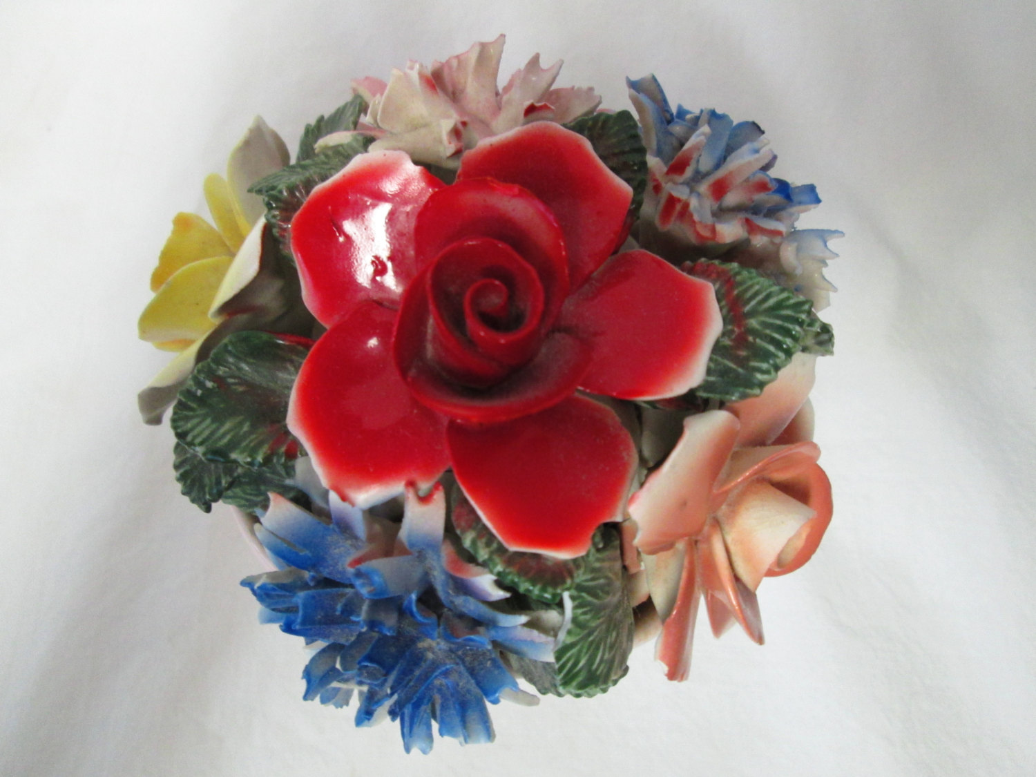 Vintage thorley fine bone china flowers in vase multi colored large vintage thorley fine bone china flowers in vase multi colored large piece roses and carnations pink mightylinksfo
