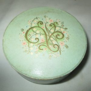 Vintage Vanity Avon Natural Face Powder in Cardboard container Good housekeeping seal of approval Lily of the valley lid