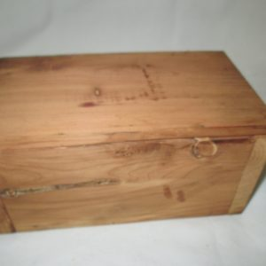 Vintage Wooden Cedar Storage box hand crafted hinged lid storage box