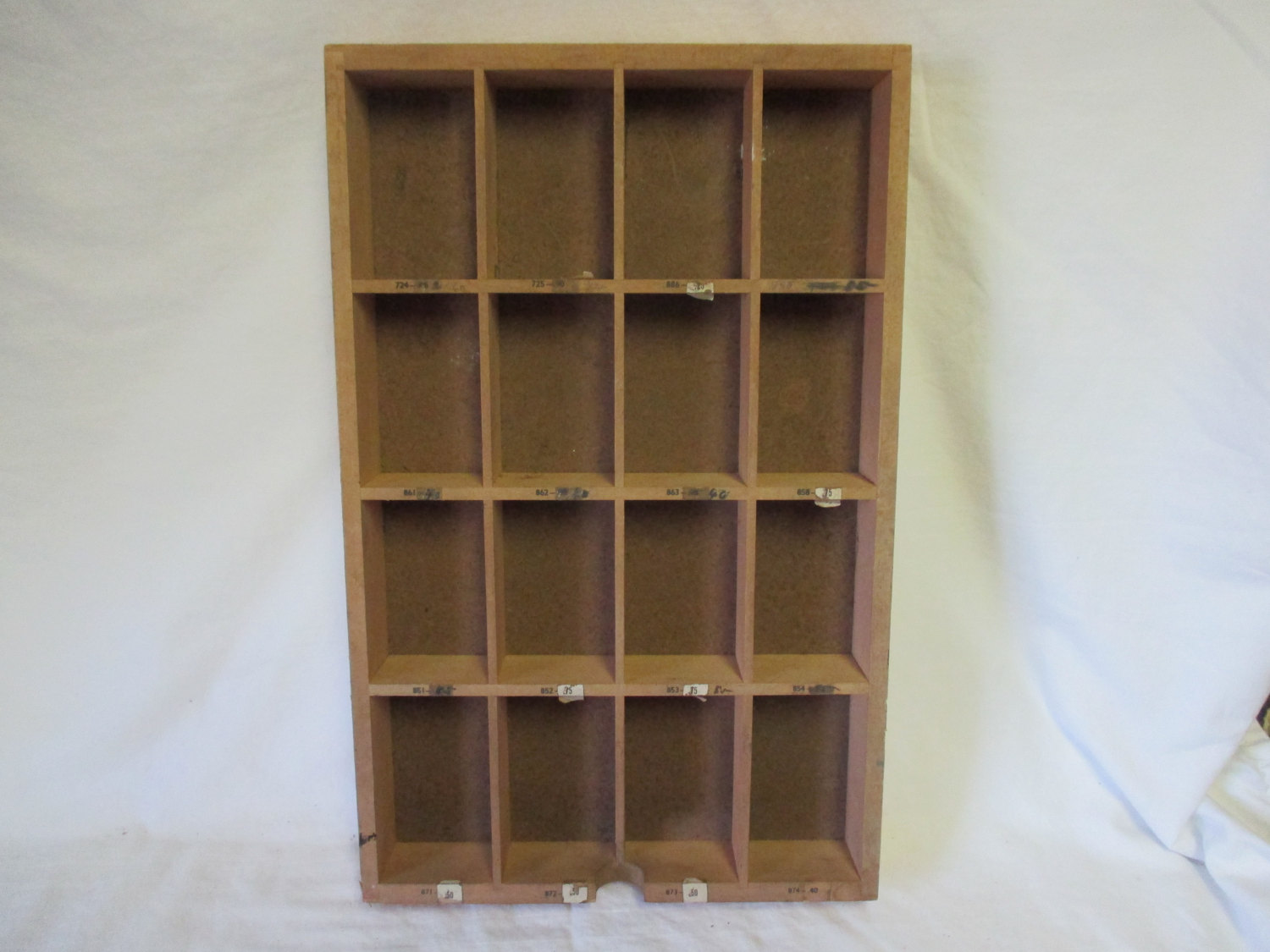 Vintage Wooden Pharmacy Storage Box Tray Divided numbered box
